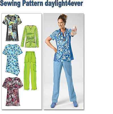 Women Scrubs Top Pants Sewing Pattern 6473 McCall's Size 8-16 NEW #u