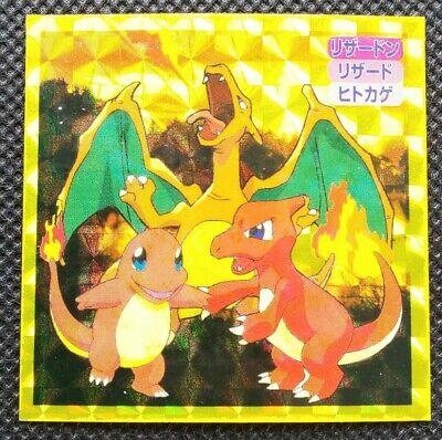 Charizard Charmeleon charmander Pokemon Topsun Sticker Holo Nintendo Japan F/S