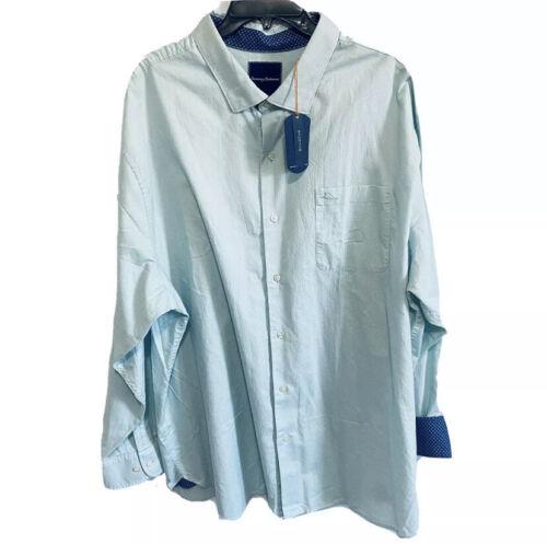 $135 Tommy Bahama Mens L/S Capeside Herringbone Shirt 2XB 2XLB Grey Blue Beach Casual Button-Down Shirts