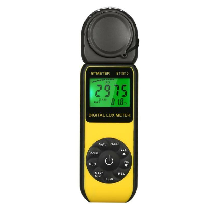 0.01-400000 Digital Lux Meter Luminometer Photometer  Temperature Measure Tester