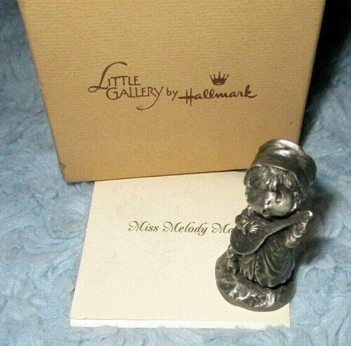 Hallmark 1980 MISS MELODY MAKER Hamilton Mini Pewter USA Figurine NIB