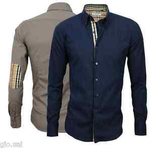 Camicia-Uomo-Comfort-Slim-Manica-Lunga-Colori-Vari-S-M-L-XL-XXL