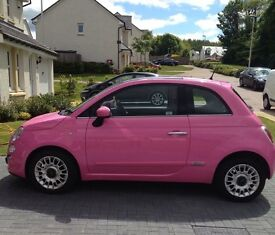LIMITED EDITION 2010 PINK FIAT 500