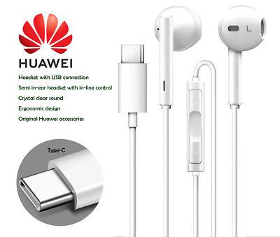 Genuine Huawei CM33 In Ear Stereo Headphones Earphone For P20,P20 Pro,P10 White