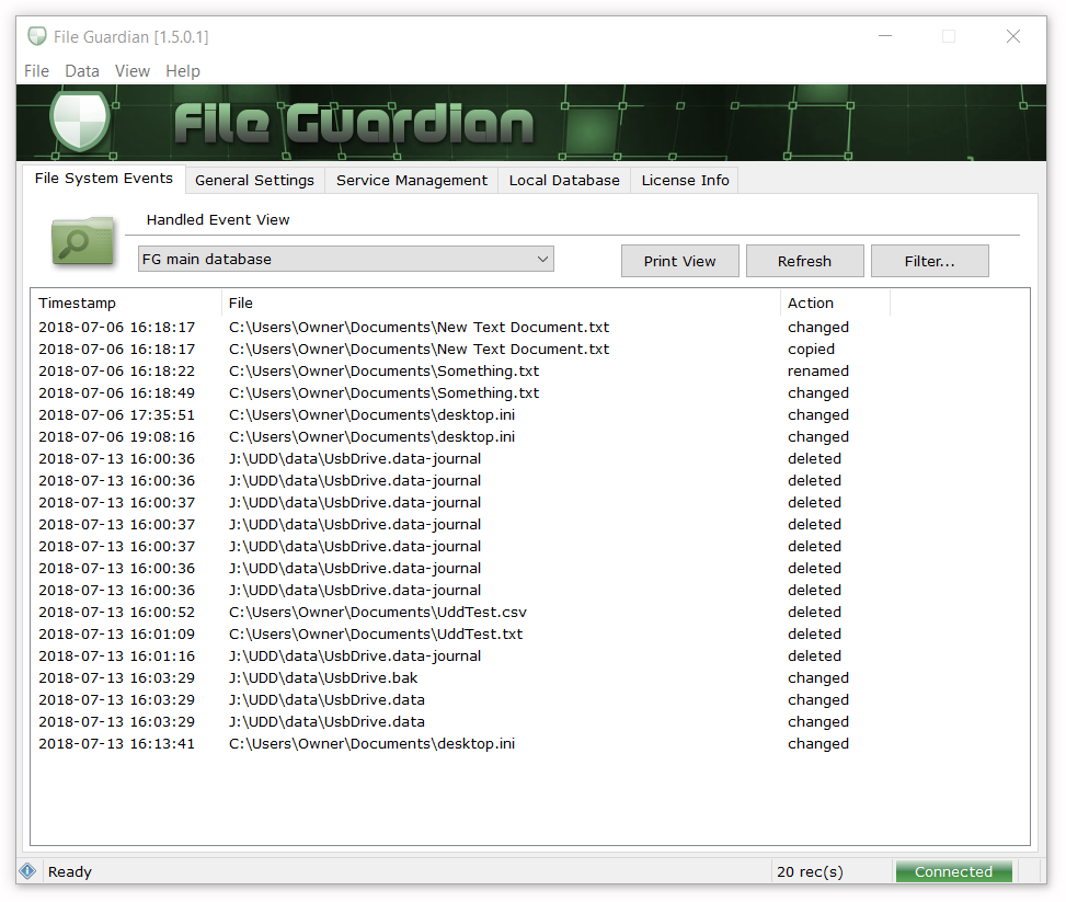 File Guardian, Small Business Digital Loss Prevention Software - 1 year license