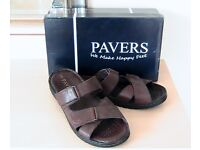 Sandals - Mens Leather Sandals from Pavers. Size 9 Brand New in Box