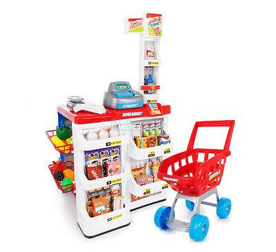Kaufmannsladen & Einkaufswagen Kaufladen Kinder Supermarkt NEU Geschäft KP6441