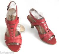 Tamaris - Court Shoes Heels 6 Cm Anti Shokk Red Leather Pink 38 - & Box - tamaris - ebay.co.uk