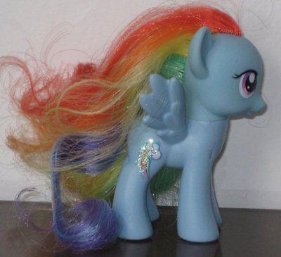 My Little Pony Friendship is Magic FIM Rainbow Dash Blue TRU Favorites Loose New