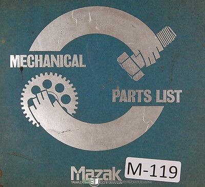 Mazak Yamazaki Mazatrol Mechanical Parts List Quick Turn 8 Machine Manual 1985