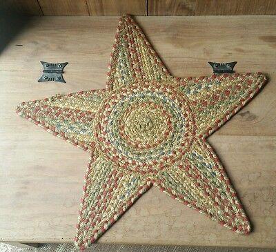 Green World Rugs ~ Azalea Jute Braided 20u0026quot;x20u0026quot; Star Trivet FREE  ...