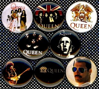 "QUEEN CREST 25mm 1/"" Pin Button Badge Rock Band Freddie Mercury Bohemian Rhapsody"