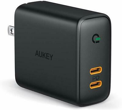USB C Charger AUKEY 30W 2-Port PD Charger USB C Wall Charger...