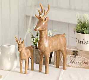 Wooden deer a pair Home Decoration Hurstville Hurstville Area Preview