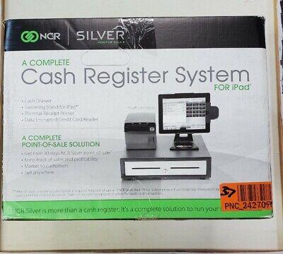 Brand New Ncr Silver Pos Cash Register System