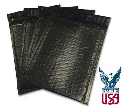 Size 0 - 6.5x9 Black Poly Bubble Mailers - Premium Quality