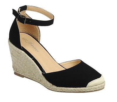 Palin-14 - Forever Cute Espadrille Wedge Heel Round Closed T