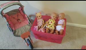 Baby Born Dolls/Pram/Clothes & Accessories Ellenbrook Swan Area Preview