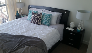 King bed frame and bedside tables Wallsend Newcastle Area Preview
