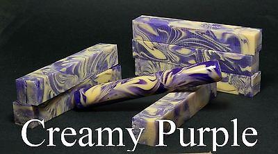 "Acrylic / Resin Pen Blank ... ""Creamy Purple"" .. #50"