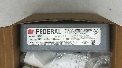 Federal Signal 4a967 Vibratone Horn 120vac Model 350