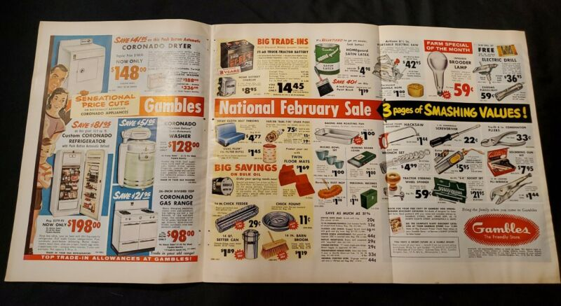 1950s Print Ad Gambles Store