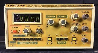 Vintage Function Generator Lodestar Fg-2102ad Portable 0.2hz-2mhz Sl