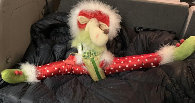 Christmas REINDEER Plush Door Window Draft Stopper Fab & Fur FREE