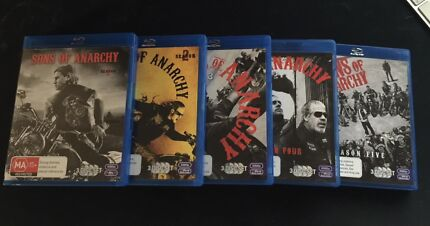 Sons of Anarchy Seasons 1-5 on BluRay - NEVER USED!!
