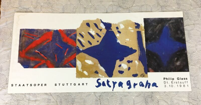 Vintage Limited Concert Poster Philip Glass 1981 Satyagraha Staatsoper Stuttgart