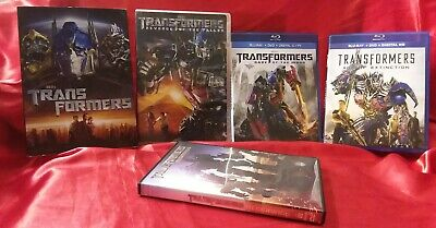 Transformers 4-Movie Collection w/Slipcovers DVD/blu-ray+Transformers Beginnings