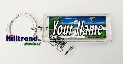 Message Keychain - Your Name Message Solar Power Blinking Key Chain Ring Keychain No need battery