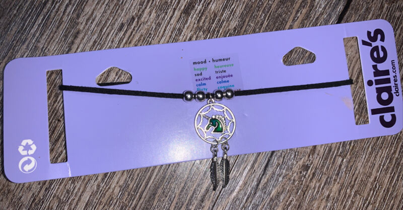 Claire's Mood Unicorn Choker Color Changing Necklace Feather Jewelry Valentines