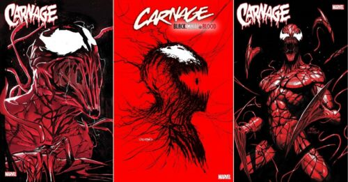 Carnage Black White And Blood #1 3-book Variant Set Nm Spider-man Venom Knull