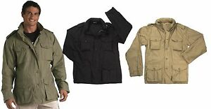 Mens-Lightweight-Vintage-Field-Jacket-Rothco-Tactical-M-65-Cotton-Coat-XS-2XL
