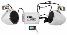 Boss Audio MC500 600w Speaker+Amplifier+Remote Handlebar System Motorcycle/ATV