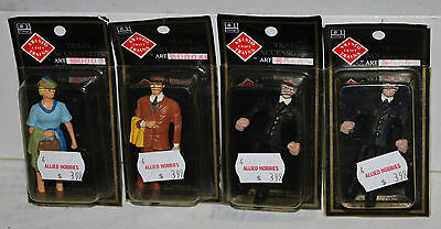 Lot of 4 Aristo Craft 1 Gauge / G Scale Railroad Figures - NEW in Boxes