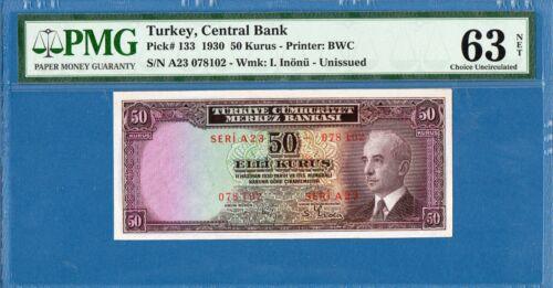 Turkey, 50 Kurus, 1930, Choice UNC-PMG63, P133