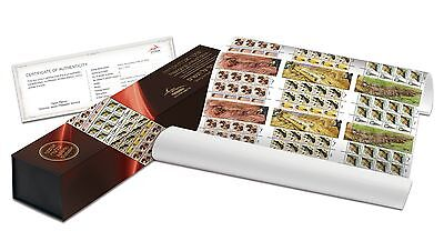 ISRAEL, 2012 VULTURES, IMPERFORATE STAMPS IN BOX, MINT NEVER HINGED