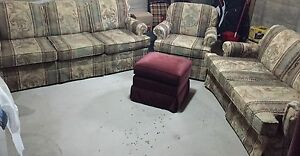 Complete Couch / Sofa Set & Leg Stool