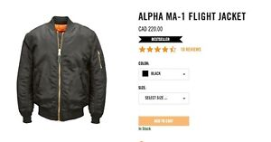 Alpha industries ma1 size small
