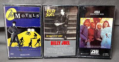 Vintage Motels, Billy Joel, Abba Audio Cassette Tape lot of 3 Factory Sealed NEW