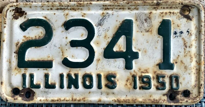 1950 Illinois Motorcycle License Plate