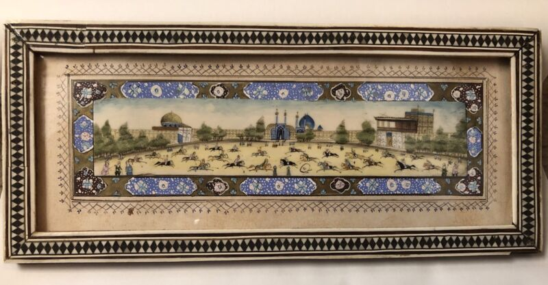 Magnificent  Miniature Painting Signed Hossein Behzad
