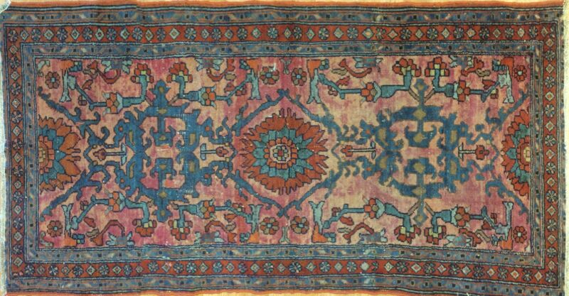 Handsome Hamadan - 1930s Antique Persian Rug - Tribal Carpet - 2.10 X 5.4 Ft.