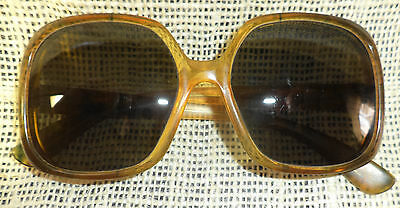 Mid-Century American Optical Sunglasses, Big Glass Lenses, Brown/Clear Frames AO