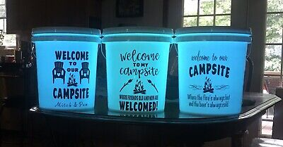 Personalized Light Up 5 Gallon Bucket With Remote For Camping Or Pool (Light Up Pool)