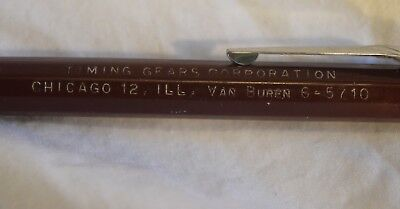 TS-035 IL Chicago Timing Gears Corporat, Mechanical Pencil Advertising Vintage