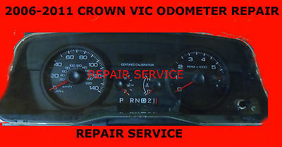 2009 Ford Crown Vic-Odometer/ IPC/ Speedometer  Gauge Repair 24 hour turnaround