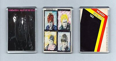 Magnets x 3 GENERATION X Valley of the Dolls Ready Steady Go PUNK NEW WAVE